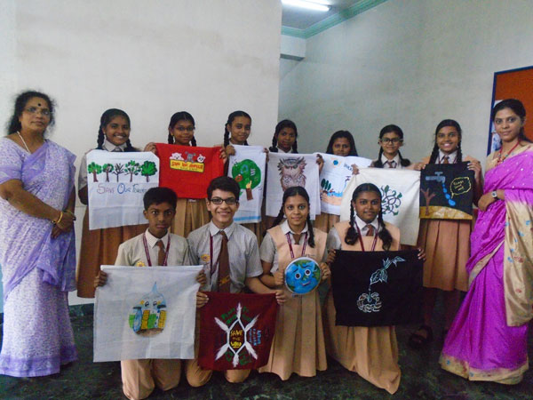mis environment day celebration best out of waste activity